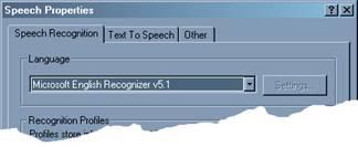 microsoft speech recognition engine v5 0